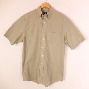 Jos A Bank green grid pattern shirt, size XL
